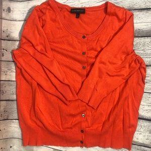 Lane Bryant Cardigan Sweater Coral/Orange 18/20